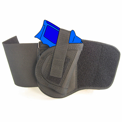 Ankle Holster - Right Handed for Ruger LCP ( 380) with Crimson Trace  Laserguard